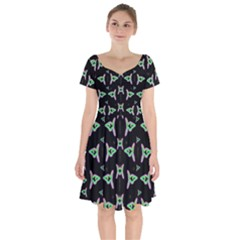 Fishes Talking About Love And Stuff Short Sleeve Bardot Dress