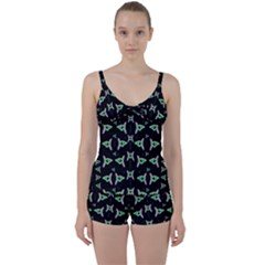 Fishes Talking About Love And Stuff Tie Front Two Piece Tankini