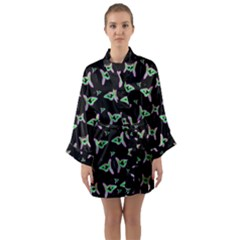 Fishes Talking About Love And Stuff Long Sleeve Kimono Robe