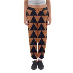 Triangle2 Black Marble & Teal Leather Women s Jogger Sweatpants