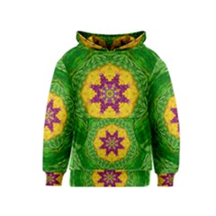 Feathers In The Sunshine Mandala Kids  Pullover Hoodie