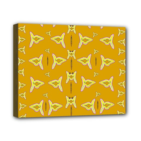 Fishes Talking About Love And   Yellow Stuff Canvas 10  X 8
