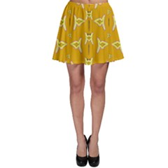 Fishes Talking About Love And   Yellow Stuff Skater Skirt