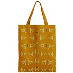 Fishes Talking About Love And   Yellow Stuff Zipper Classic Tote Bag