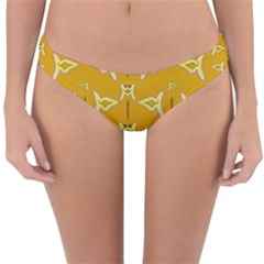 Fishes Talking About Love And   Yellow Stuff Reversible Hipster Bikini Bottoms