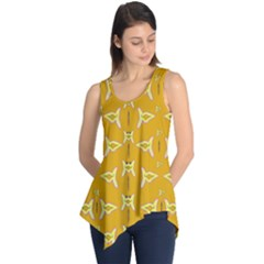 Fishes Talking About Love And   Yellow Stuff Sleeveless Tunic