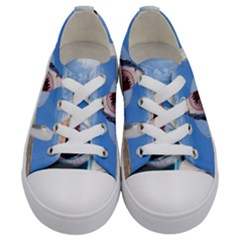 Cup Of Tea Kids  Low Top Canvas Sneakers
