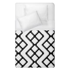 Abstract Tile Pattern Black White Triangle Plaid Chevron Duvet Cover (single Size)