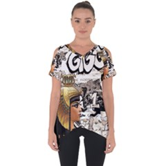Cleopatra Cut Out Side Drop Tee