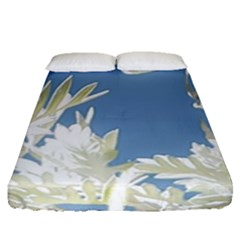 Nature Pattern Fitted Sheet (queen Size)