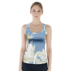 Nature Pattern Racer Back Sports Top
