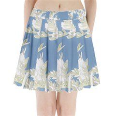 Nature Pattern Pleated Mini Skirt