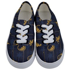 Christmas Angelsstar Yellow Blue Cool Kids  Classic Low Top Sneakers