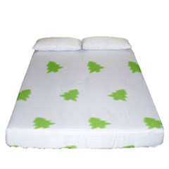 Christmas Tree Green Fitted Sheet (queen Size)