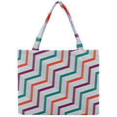 Line Color Rainbow Mini Tote Bag