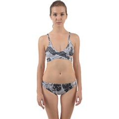 Stone Dragon Camouflage Wrap Around Bikini Set