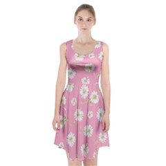 Pink Flowers Racerback Midi Dress