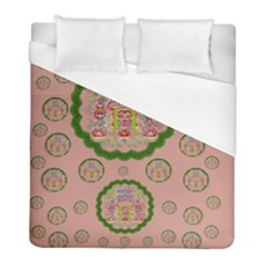 Sankta Lucia With Friends Light And Floral Santa Skulls Duvet Cover (full/ Double Size)