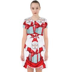 Merry Christmas Santa Claus Adorable In Chiffon Dress