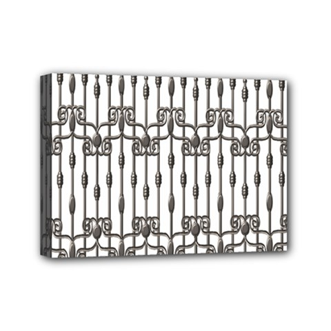 Iron Fence Grey Strong Mini Canvas 7  X 5