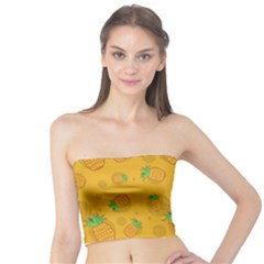 Fruit Pineapple Yellow Green Tube Top