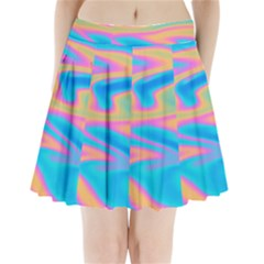 Holographic Design Pleated Mini Skirt