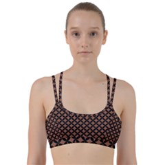 Circles3 Black Marble & Brown Denim Line Them Up Sports Bra