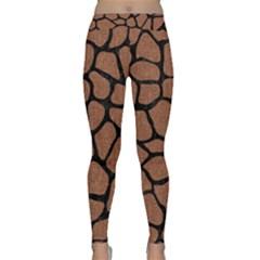 Skin1 Black Marble & Brown Denim (r) Classic Yoga Leggings