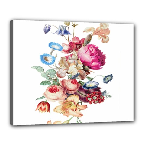 Fleur Vintage Floral Painting Canvas 20  X 16