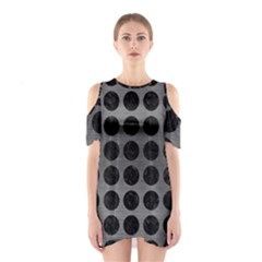 Circles1 Black Marble & Gray Brushed Metal Shoulder Cutout One Piece