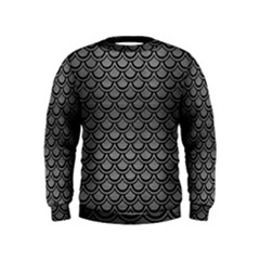 Scales2 Black Marble & Gray Brushed Metal Kids  Sweatshirt