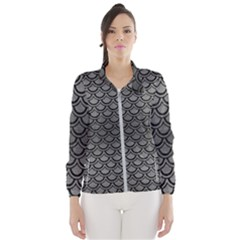 Scales2 Black Marble & Gray Brushed Metal Wind Breaker (women)