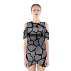 Skin1 Black Marble & Gray Brushed Metal (r) Shoulder Cutout One Piece