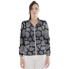 Skin1 Black Marble & Gray Brushed Metal (r) Wind Breaker (women)