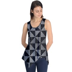 Triangle1 Black Marble & Gray Brushed Metal Sleeveless Tunic