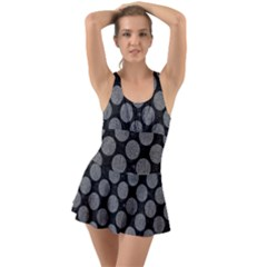 Circles2 Black Marble & Gray Denim (r) Swimsuit
