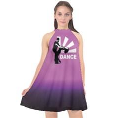 Dance Halter Neckline Chiffon Dress