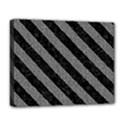 STRIPES3 BLACK MARBLE & GRAY DENIM Deluxe Canvas 20  x 16   View1