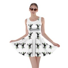 Floral Monkey With Hairstyle Skater Dress