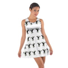 Floral Monkey With Hairstyle Cotton Racerback Dress