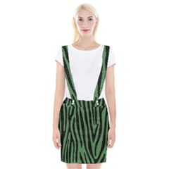 Skin4 Black Marble & Green Denim (r) Braces Suspender Skirt