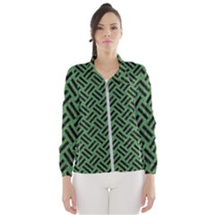 Woven2 Black Marble & Green Denim Wind Breaker (women)