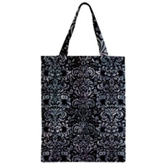 Damask2 Black Marble & Ice Crystals (r) Zipper Classic Tote Bag