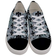 Royal1 Black Marble & Ice Crystals (r) Women s Low Top Canvas Sneakers