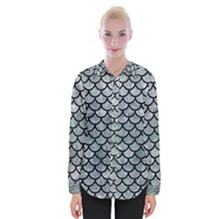 Scales1 Black Marble & Ice Crystals Womens Long Sleeve Shirt