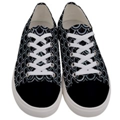 Scales2 Black Marble & Ice Crystals (r) Women s Low Top Canvas Sneakers