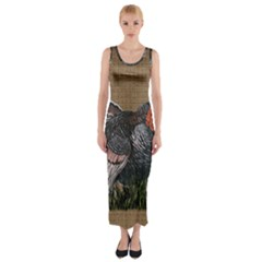 Thanksgiving Turkey Fitted Maxi Dress