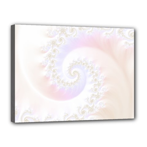 Mother Of Pearls Luxurious Fractal Spiral Necklace Canvas 16  X 12