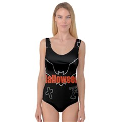 Halloween Bat Black Night Sinister Ghost Princess Tank Leotard