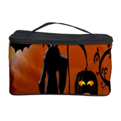 Halloween Sinister Night Moon Bats Cosmetic Storage Case